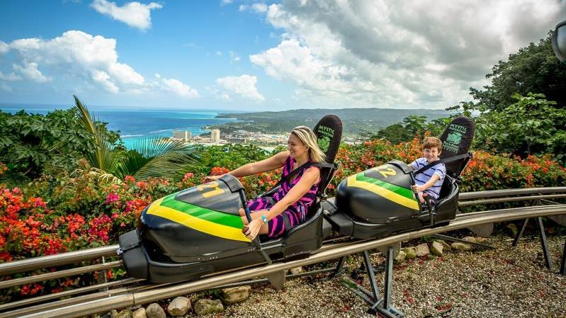 Scenic Sky Glider And Bobsled Combo With Dunn's River Falls Tour