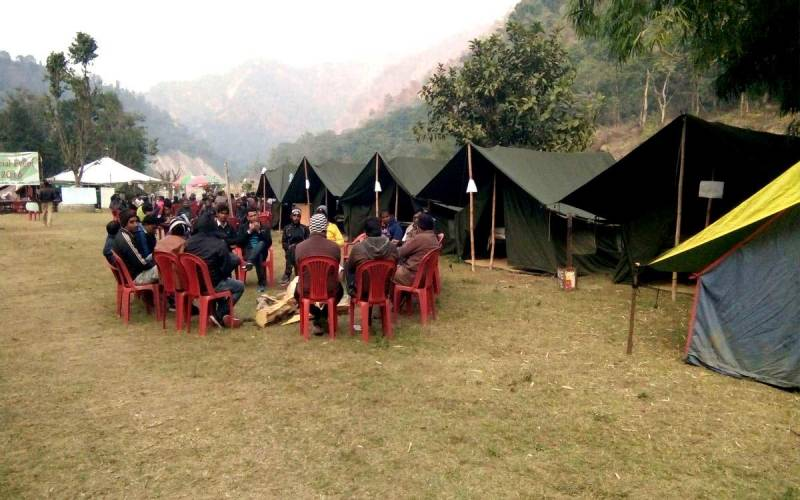 Rafting With Riverside Tent Camping