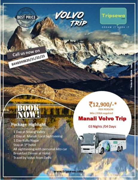 3 Nights 4 Days Manali Volvo Package