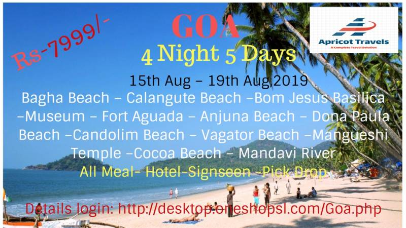 Independence Day  Goa 4 Night 5 Day