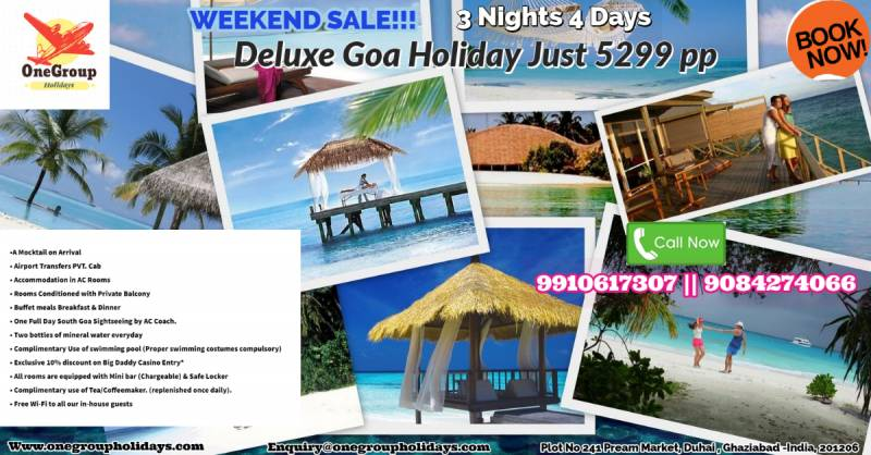 Deluxe 3Nights 4 Days Goa Holidays