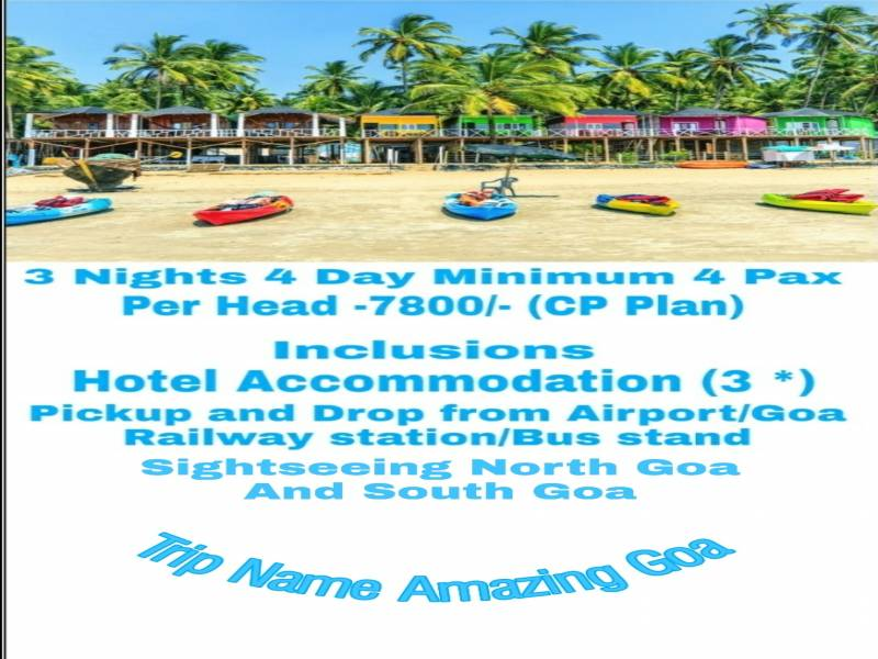 3 Nights 4 Day Goa Tour