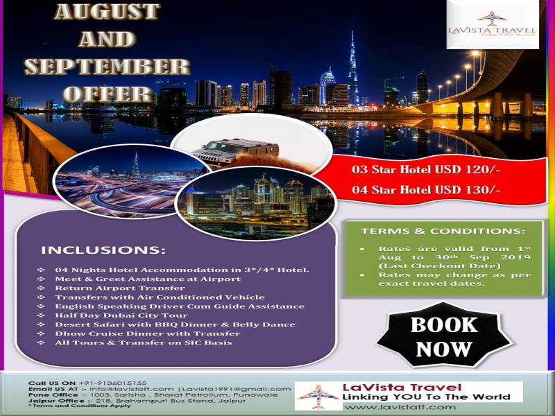 4 Nights & 5 Days Dubai B2B Summer Package