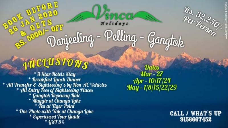 7 Nights / 8 Days Darjeeling Pelling Gangtok Tour