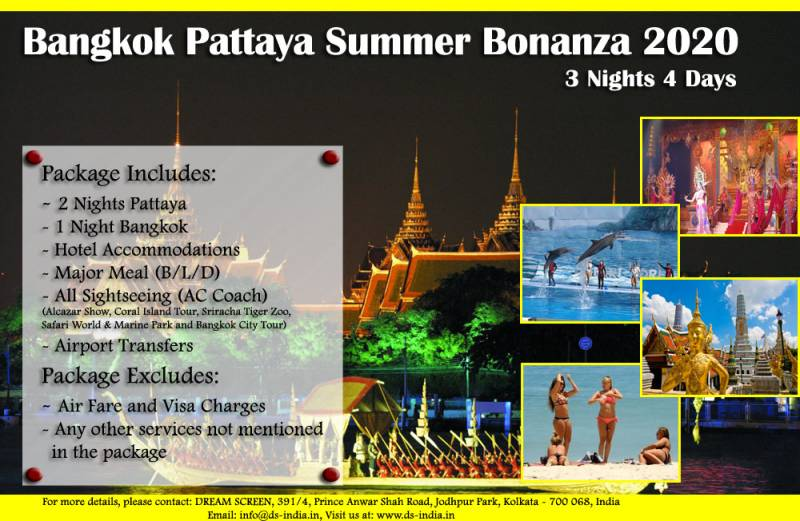 4 Days Bangkok Pattaya Summer Bonanza 2020 Tour