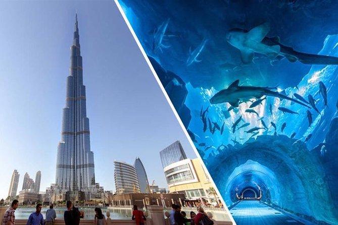 Dubai City Tour, Aquarium & Burj Khalifa Tickets Combo