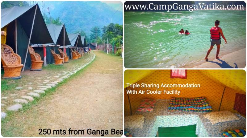 Camping In Rishikesh At Camp Ganga Vatika : Nature Camps Near River