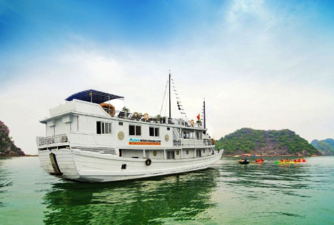 Halong Bay On Alova GOld Cruise 2days 1night