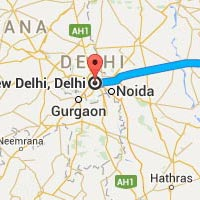 Bareilly to Delhi Taxi Tour