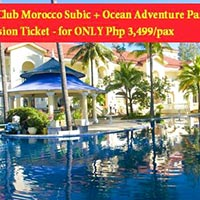 3D2N Holiday in Club Morocco Subic + Free Admission ticket to Ocean Adventure
