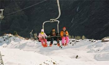 Snowboard Advance Level Course at Auli Skiing Slopes Tour
