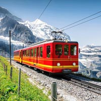 Switzerland Snow - capped Peaks & Train Tour