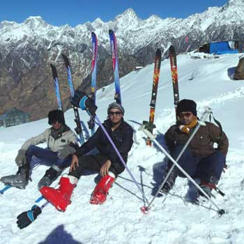 Snow Skiing At Auli Tour