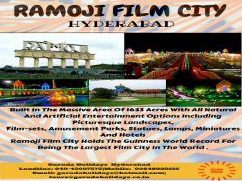 Hyderabad City Tour to Ramoji Film City (2 Nights 3 Days)