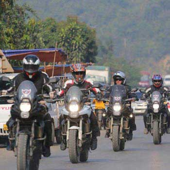 Big Motorbike Along China Border: Thailand to Laos P...
