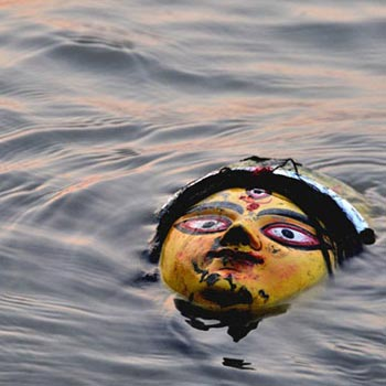 Grand Immersion Trip Of Durga Idol at River Ganga