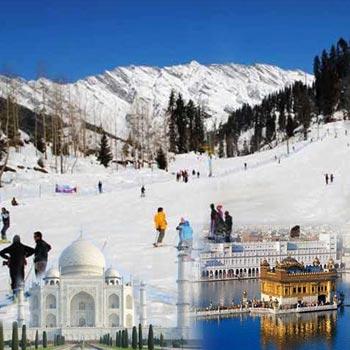 Beautiful Shimla Manali Taj Mahal Tour By Cab  For 05 Nights/06 Days