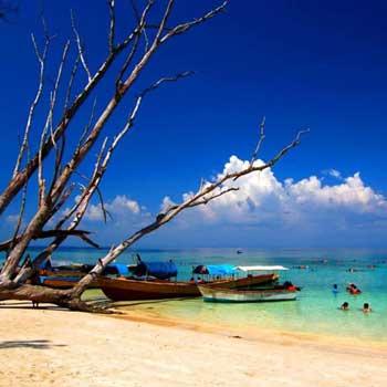 Andaman Tour Package 6 Day - Portblair - Carbyn Beach - Cellular Jail - Port Blair - Havelock - Port Blair - Baratang - Portblair - Joullybuoy - Chidiyatapu - Port Blair - Moon Island
