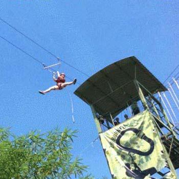 1 Day Kiulu Water Rafting and Jungle Zipline Trip