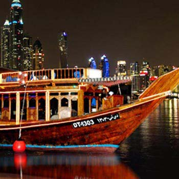Dubai Creek Dhow Cruise Tour