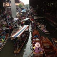 Damnoen Saduak Floating Market + Ayutthaya City Package