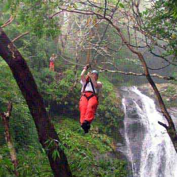 Shore Excursion Puntarenas Zip Line Tour 25 Lines Over 11 Waterfalls, Us$89
