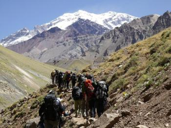 Aconcagua Confluencia Base Camp Trek · Day Trip