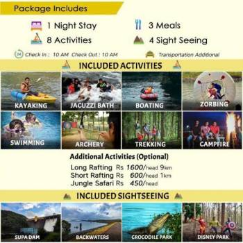 Dandeli 1N/2D Tour Package