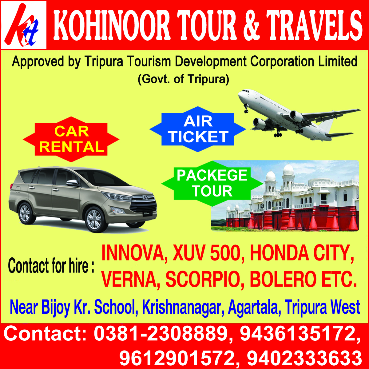 agartala tour operatorstravel agents and companies in